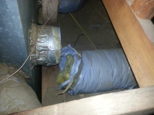 Loose duct in a residence.