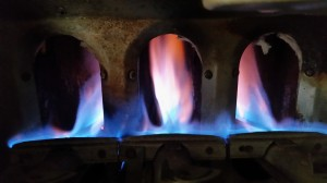 Gas Furnace Orange Flames 2