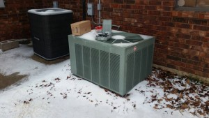 Heat Pump is covered with snow! Why?